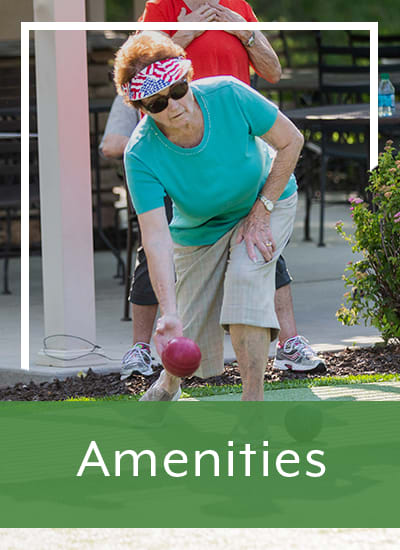Amenities at Touchmark at Coffee Creek in Edmond, Oklahoma