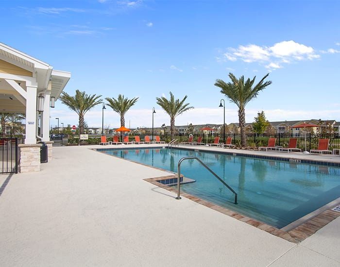 resort style outdoor pool at Springs at Tapestry in Kissimmee, FL