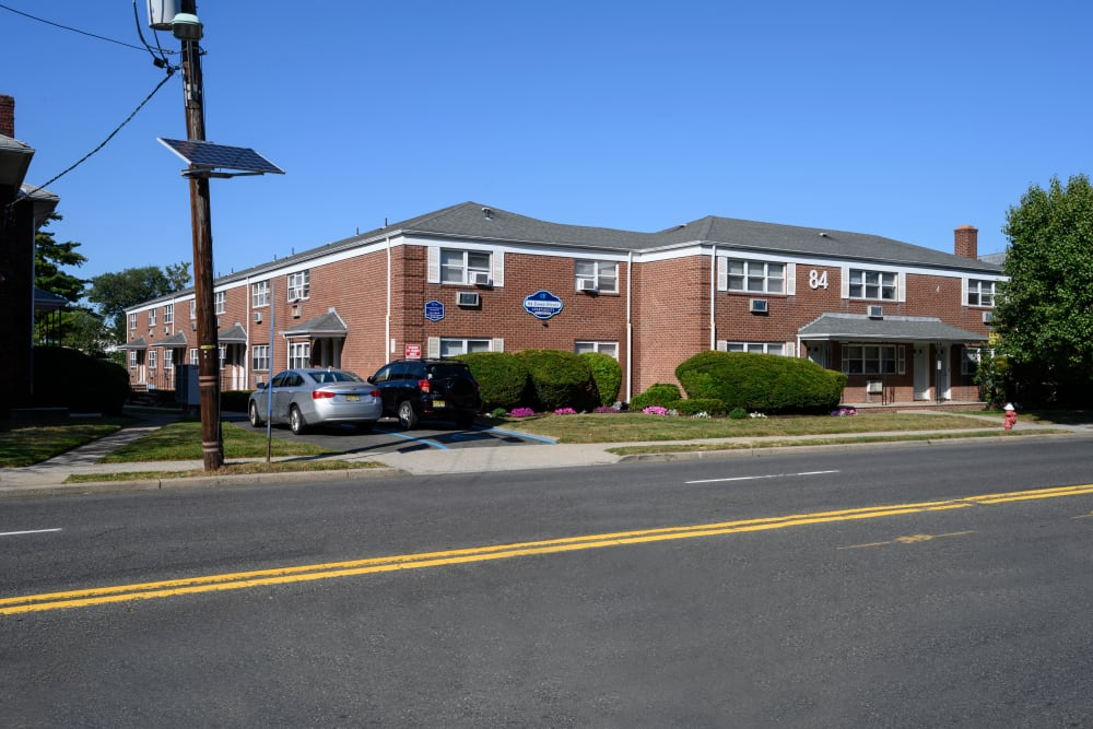 Exterior on a sunny day at 84-90 Essex Street in Hackensack, New Jersey
