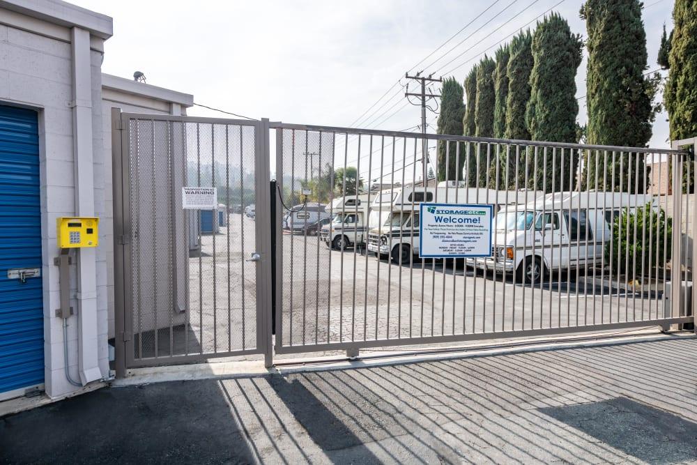 A security gate at Storage Etc... Diamond Bar in Diamond Bar, CA