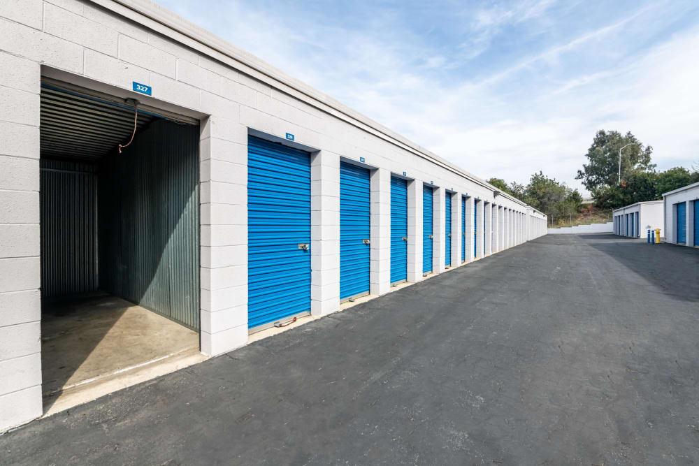 A storage unit with a raised door at Storage Etc... Diamond Bar in Diamond Bar, CA