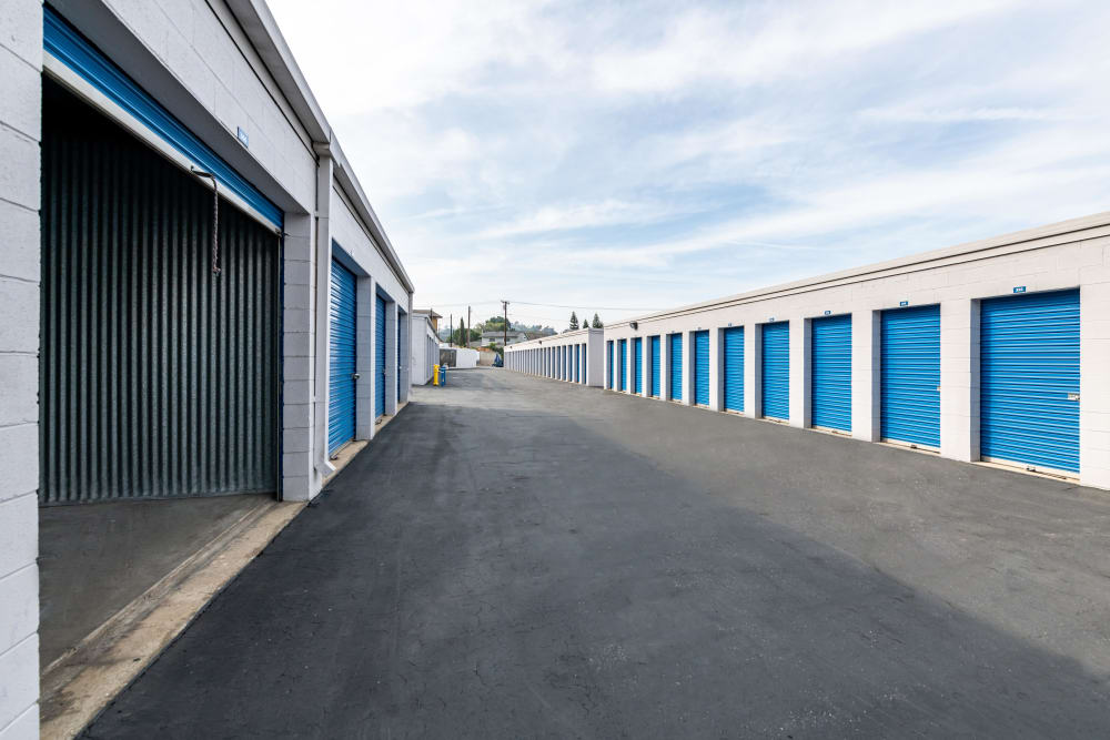 Another view of exterior storage units at Storage Etc... Diamond Bar in Diamond Bar, CA