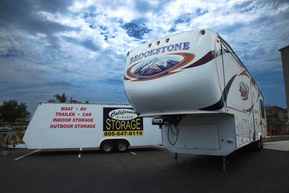 RV Trailer storage at California Classic Storage in Ventura