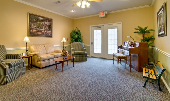 Large music room at Americare Senior Living.