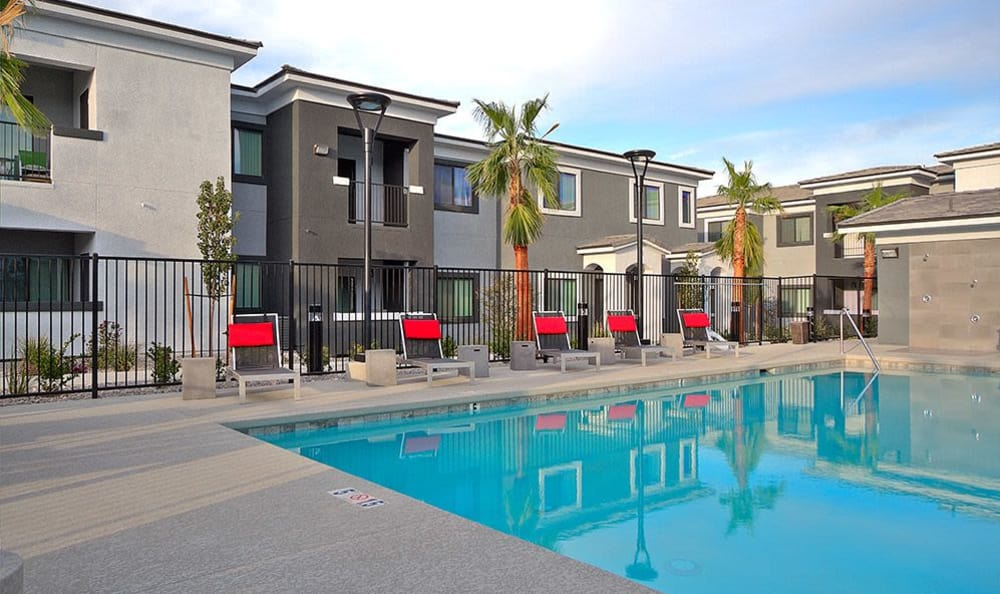 Gorgeous swimming pool at SW Apartments in Las Vegas