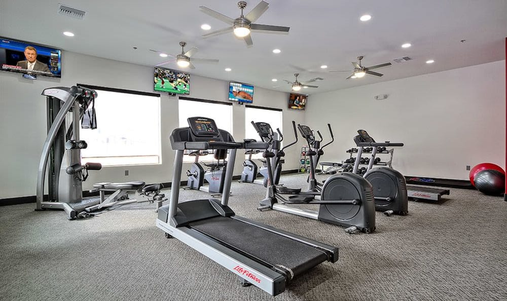 Well-equipped fitness center at SW Apartments in Las Vegas