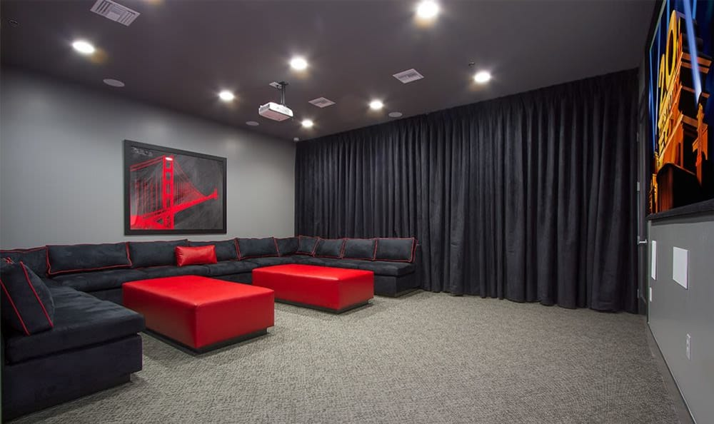 On-site movie theater at SW Apartments in Las Vegas