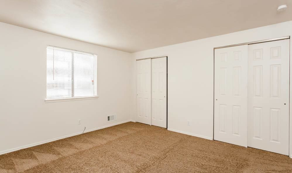Large bedroom closets at East Ridge Manor Apartments in Rochester, New York