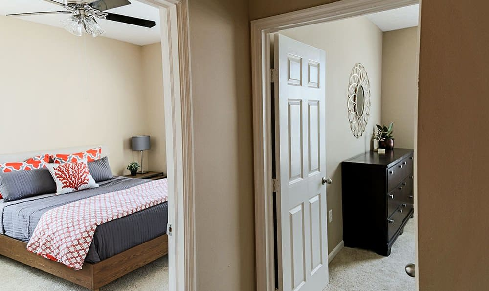 View of two Bedrooms at The Preserve at Beckett Ridge in West Chester, Ohio