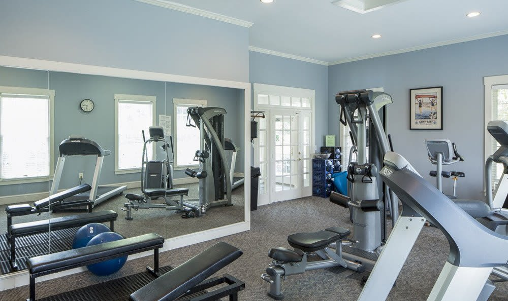 Well-equipped Fitness center at The Preserve at Beckett Ridge in West Chester, Ohio