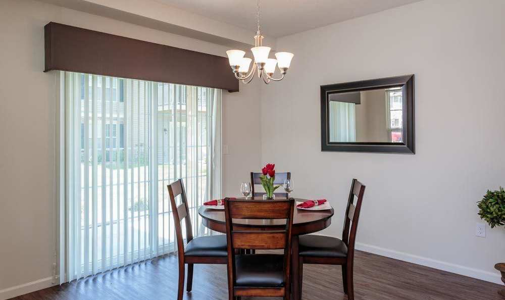 Dining room at Auburn Creek Apartments in Victor, New York