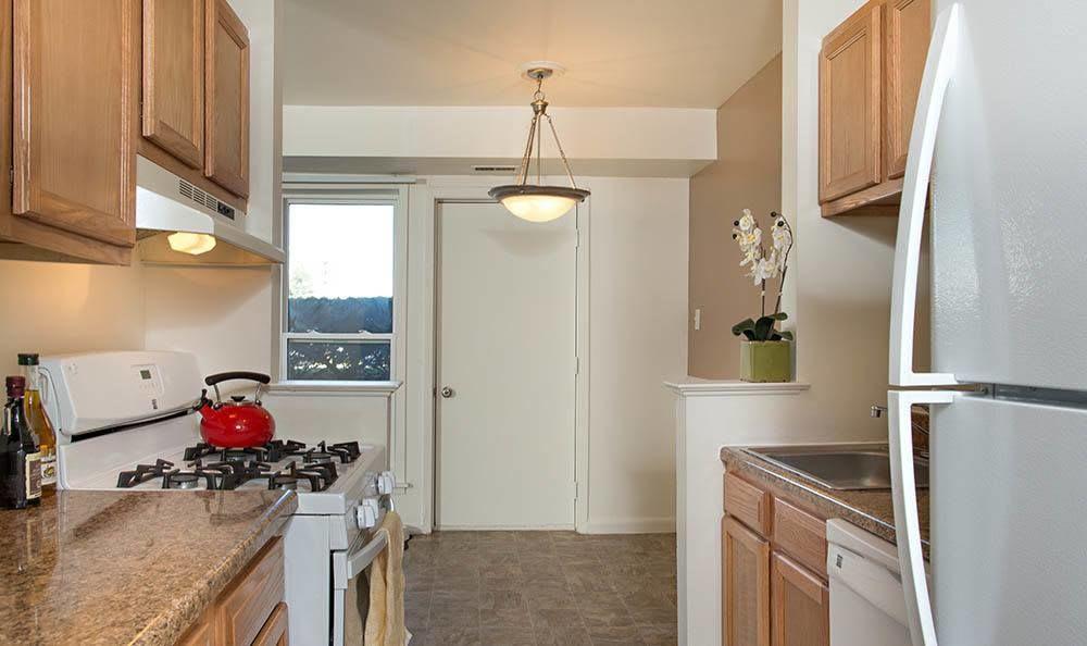 Modern kitchen at Hillcrest Village in Niskayuna, New York