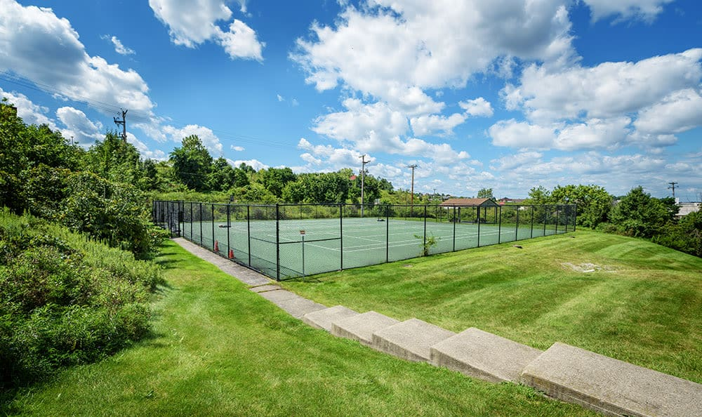 Tennis court at Westpointe Apartments in Pittsburgh, Pennsylvania