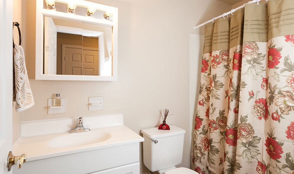 Bathroom at Newcastle Apartments home in Rochester, New York
