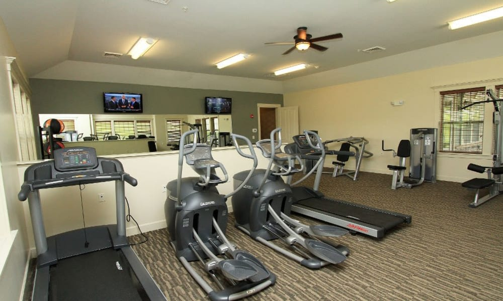 Fitness center at Preserve at Autumn Ridge in Watertown, New York