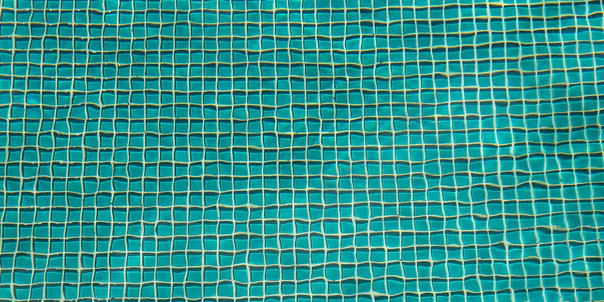 Bottom of swimming pool at The Copeland in Austin, Texas
