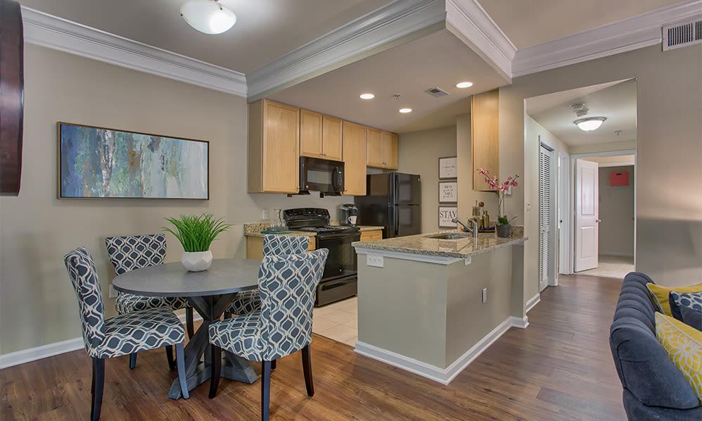 Spacious living area at Atkins Circle in Charlotte, North Carolina