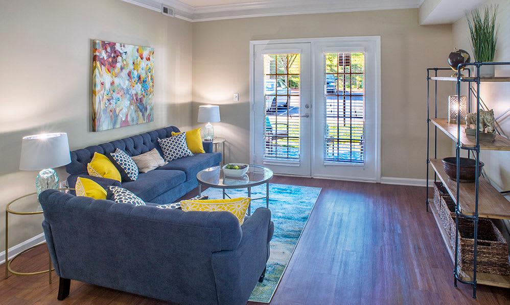 Inviting living room at Atkins Circle in Charlotte, North Carolina