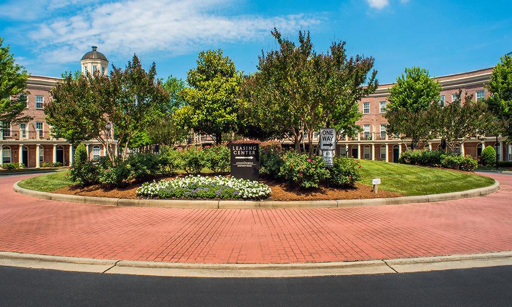 Beautiful garden area at Atkins Circle in Charlotte, North Carolina