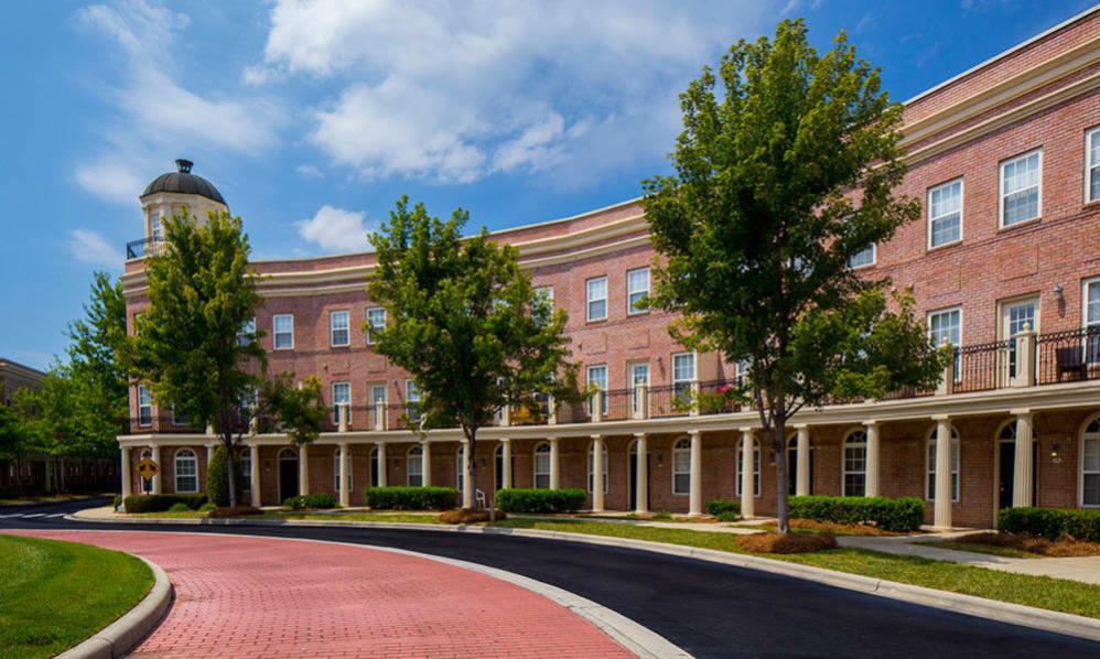 Brick exterior of Atkins Circle in Charlotte, North Carolina