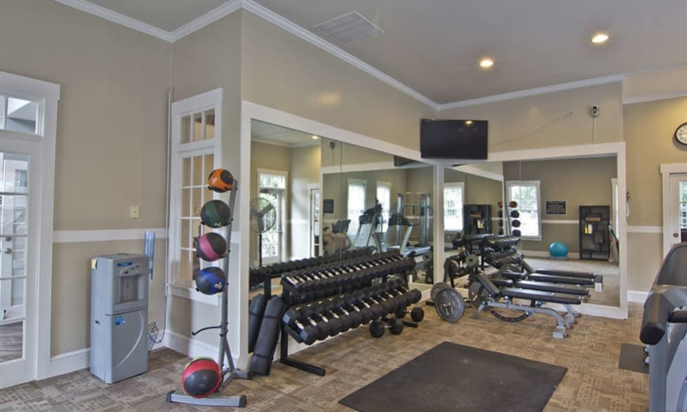 Fitness center at The Woods at Polaris Parkway in Westerville, Ohio