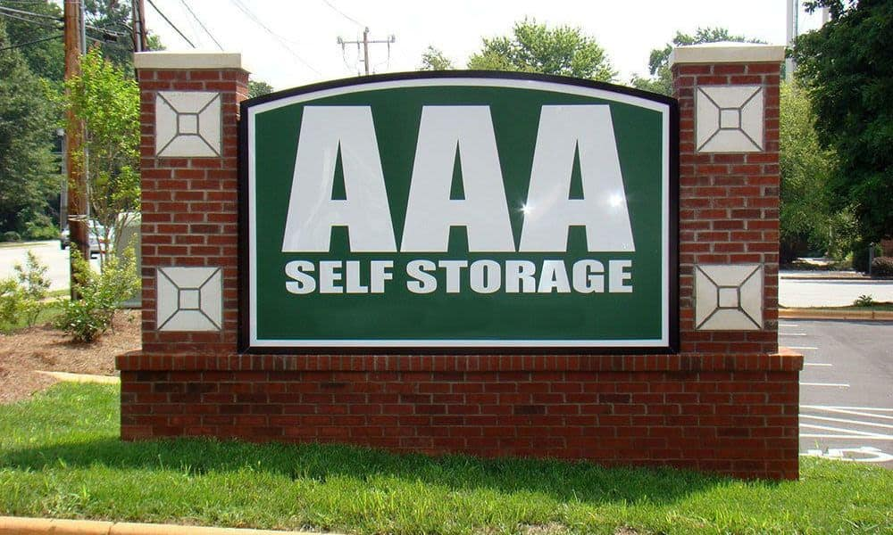 The sign at our Kernersville self storage