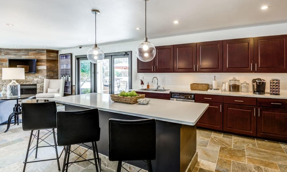 Kitchen island at Beech Lake Apartments in Durham, NC