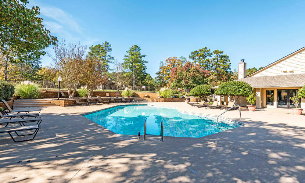 Beautiful pool at Beech Lake Apartments in Durham, NC