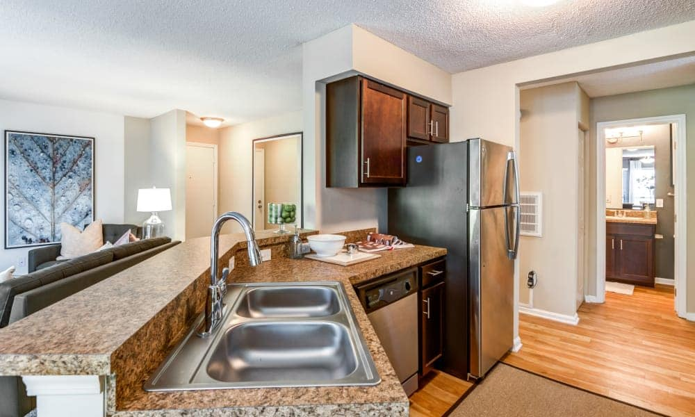 Large kitchen sink at Beech Lake Apartments in Durham, NC