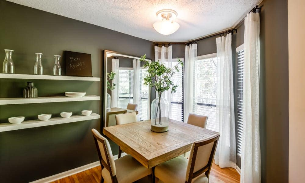 Beautiful dining room at Beech Lake Apartments in Durham, NC
