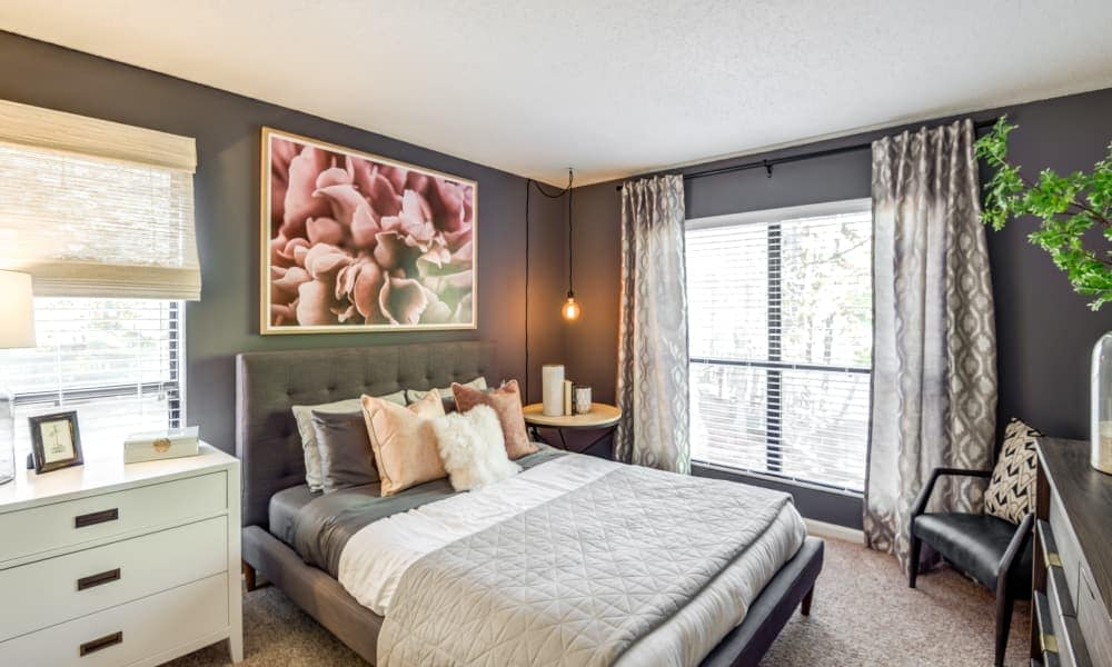 Master bedroom at Beech Lake Apartments in Durham, NC