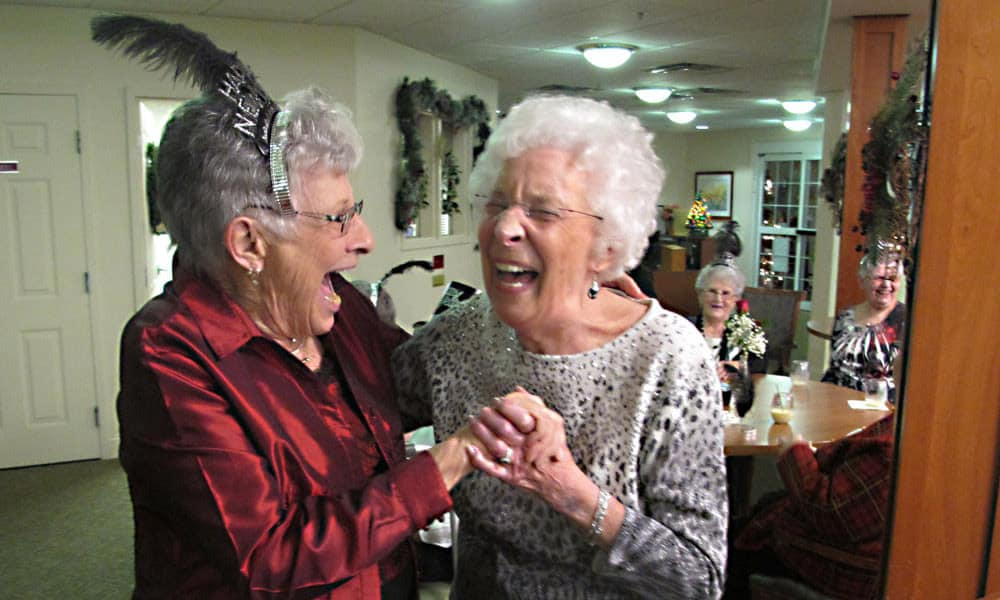 New Year's Eve celebrations at Traditions of Hanover in Bethlehem, Pennsylvania