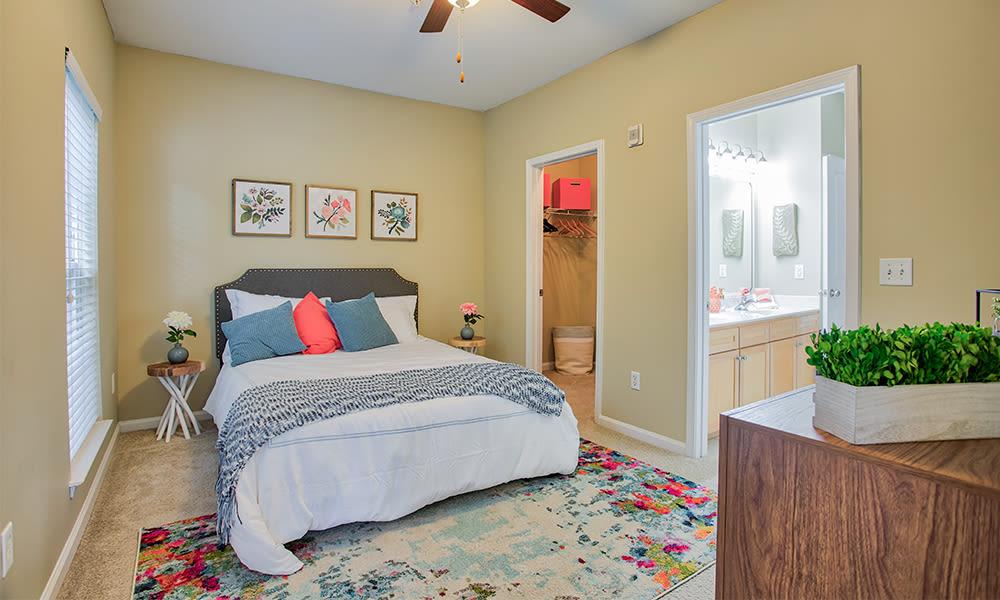 Bedroom at Worthington Luxury Apartments in Charlotte, North Carolina