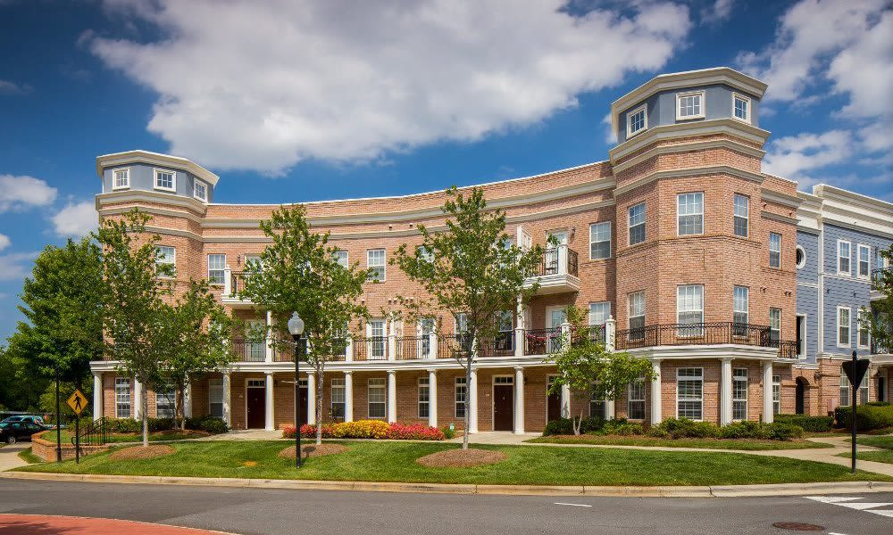 Brick exterior of Worthington Luxury Apartments in Charlotte, North Carolina