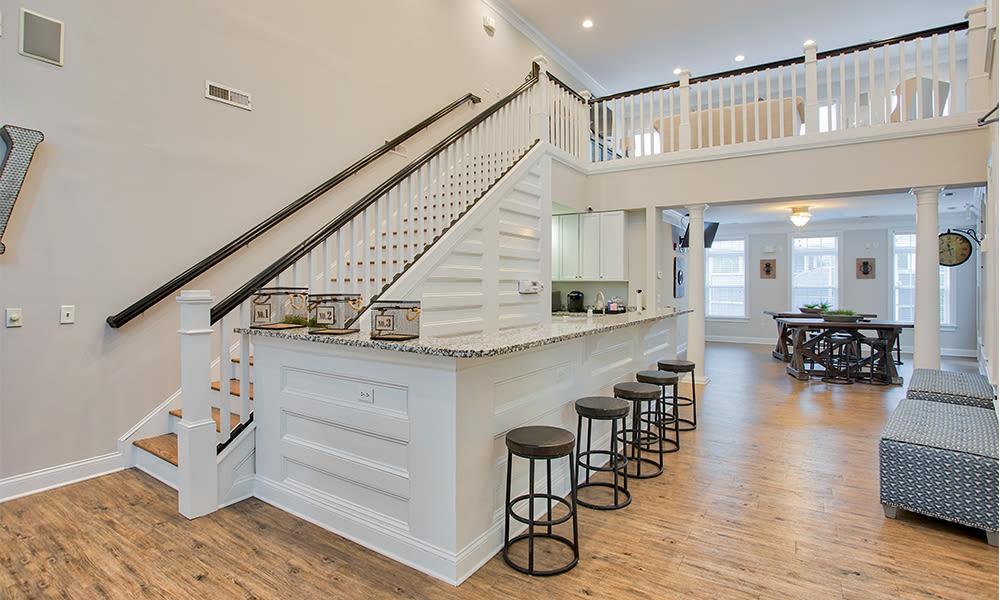 Beautiful clubhouse at Worthington Luxury Apartmentsin Charlotte, North Carolina