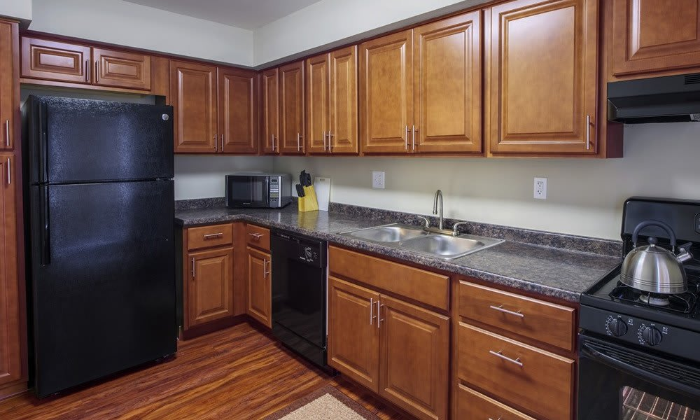Spacious kitchen at Nineteen North Apartments in Pittsburgh, Pennsylvania