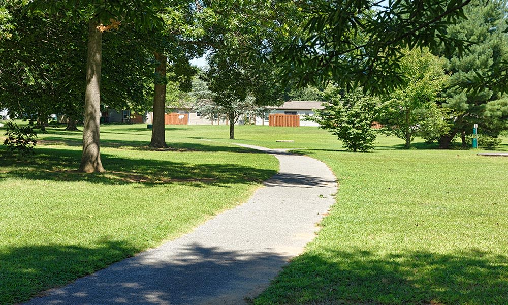 Walkway at Eagle Meadows Apartments in Dover, Delaware