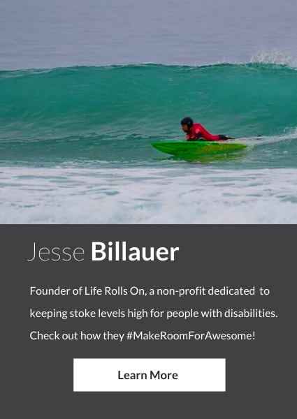 Meet Jesse Billauer, an ambassador for StorQuest Self Storage in Santa Monica, California