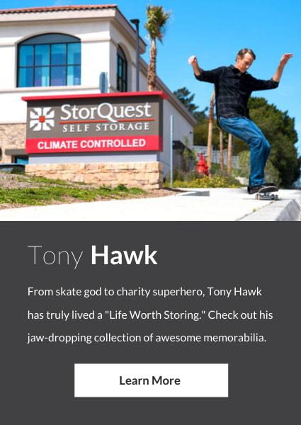 Meet Tony Hawk, an ambassador for StorQuest Self Storage in Santa Monica, California