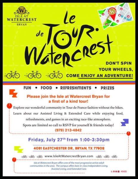 Tour de watercrest poster