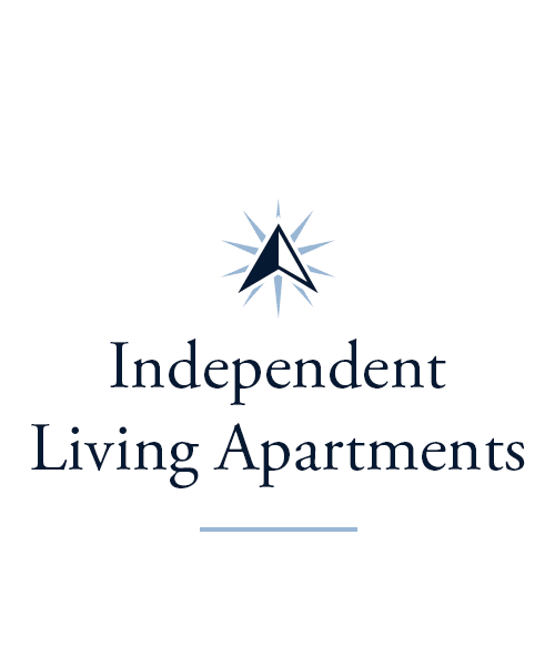 Independent living apartments at Harrison Trail Health Campus in Harrison, Ohio