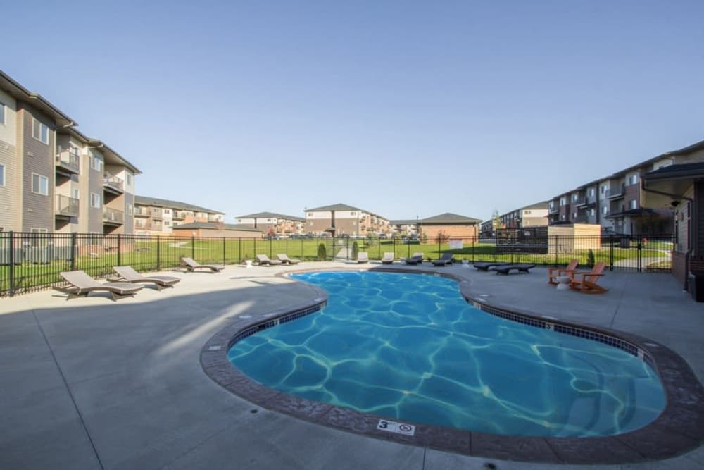 Swimming pool at The Summit at Sunnybrook Village in Sioux City, Iowa