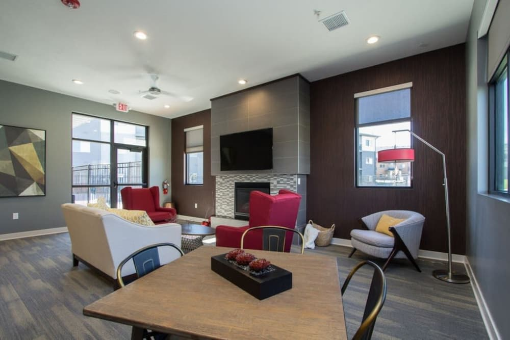 Luxury clubhouse at The Summit at Sunnybrook Village in Sioux City, Iowa