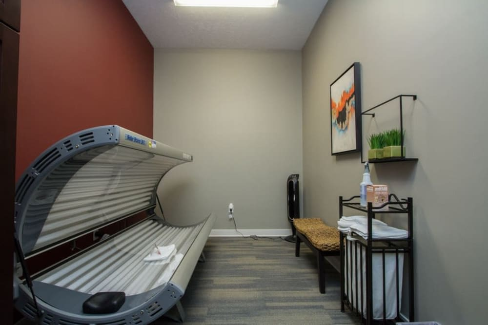 Tanning bed at The Summit at Sunnybrook Village in Sioux City, Iowa