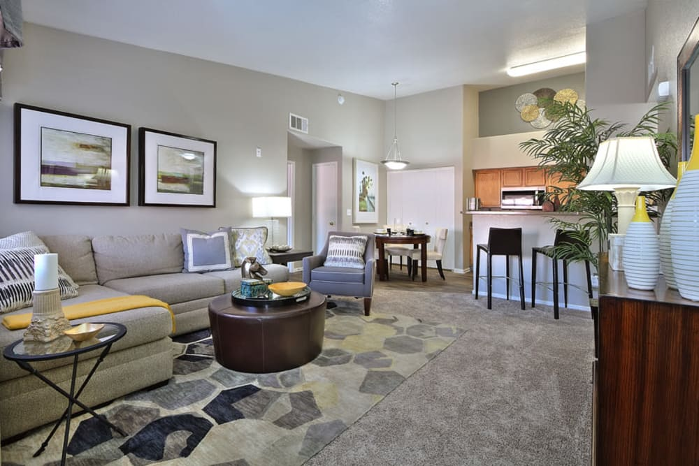 Living room at Mariner at South Shores | Apartments in Las Vegas, NV