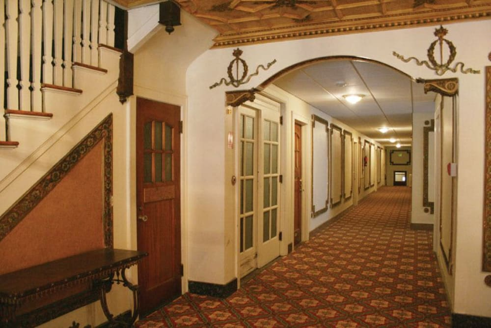 Internal hall at Parkwin Apartments in Rochester, New York