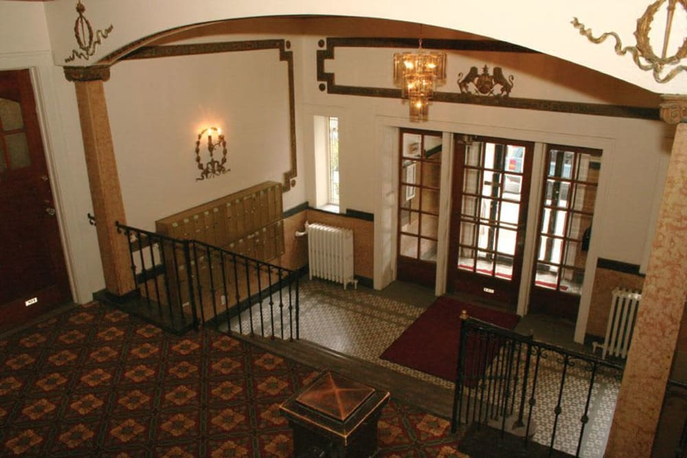 Historic hall at Parkwin Apartments in Rochester, New York