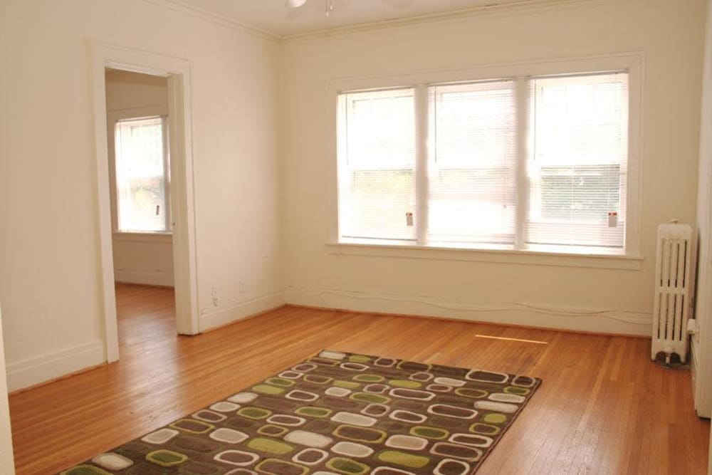 Hardwood floors at Parkwin Apartments in Rochester, New York
