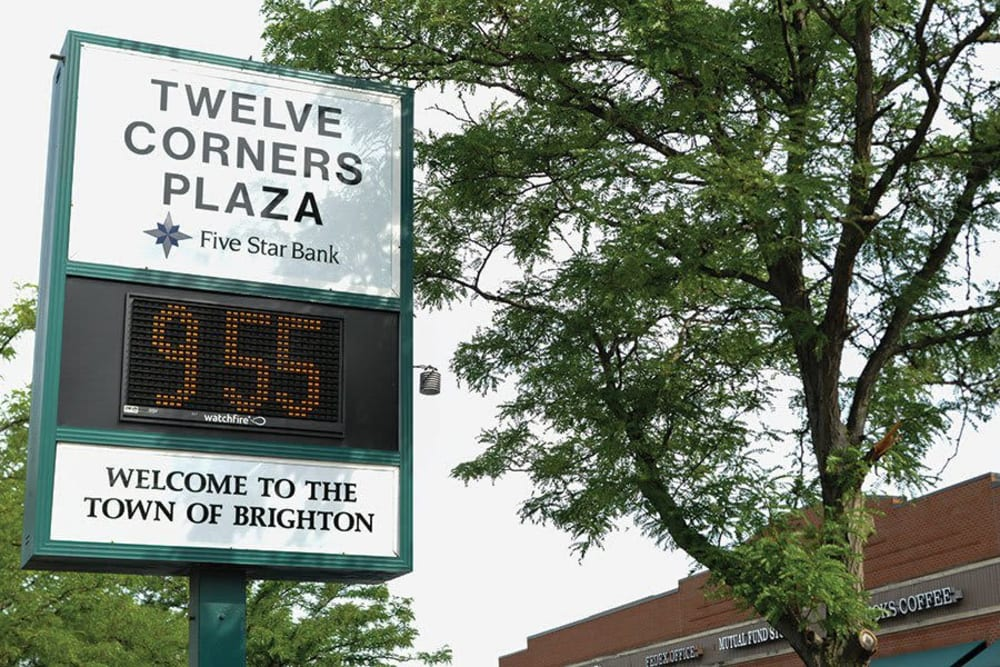 Twelve corners plaza near Brighton Gardens in Rochester, New York