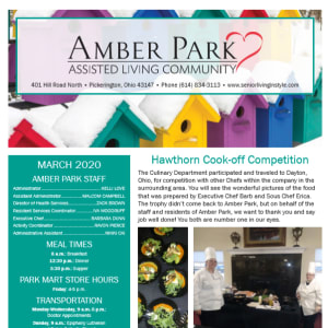 March Amber Park newsletter
